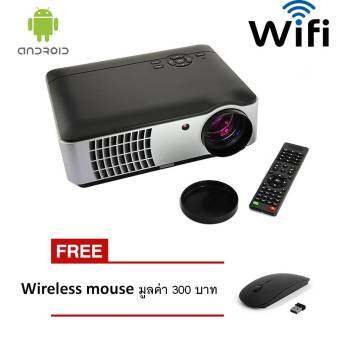 โปรเจคเตอร์ Android Wifi RD806 LED All in one Multimedia 2800 Lumens Free Wireless mouse x 1