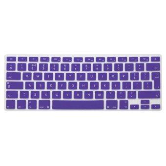 แป้นพิมพ์ปกอังกฤษสหภาพยุโรปผิวซิลิโคนสำหรับ Apple Macbook Mac Pro Air 27.94ซม 33.02ซม 38.1ซม 43.18ซม