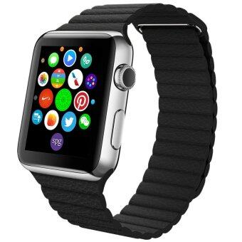 ประเทศไทย Apple Watch Magnetic Band 42mm Leather Style Black