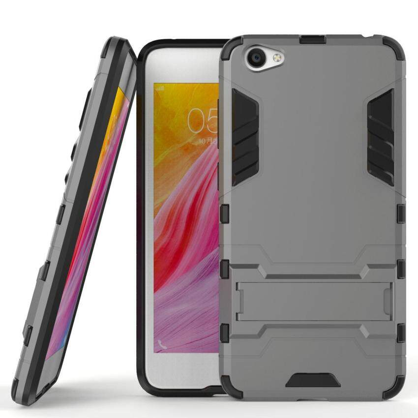 Armor Case For VIVO Y55 Dual Layer Shockproof Stand Protective Cover Grey - intl ...