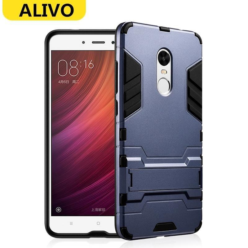 Armor Hard Phone Case Phone Case with Stand Bracket Back Cover Case for Xiaomi Redmi Not ...