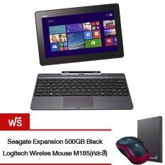 Asus Notebook รุ่น T100TA-DK025H 10.1/Z3775/2G/500G+32G SSD/Win8.1 Grey (แถมฟรี! Seagate Expansion 500GB มูลค่า Black + Logitech Wireles Mouse m185)