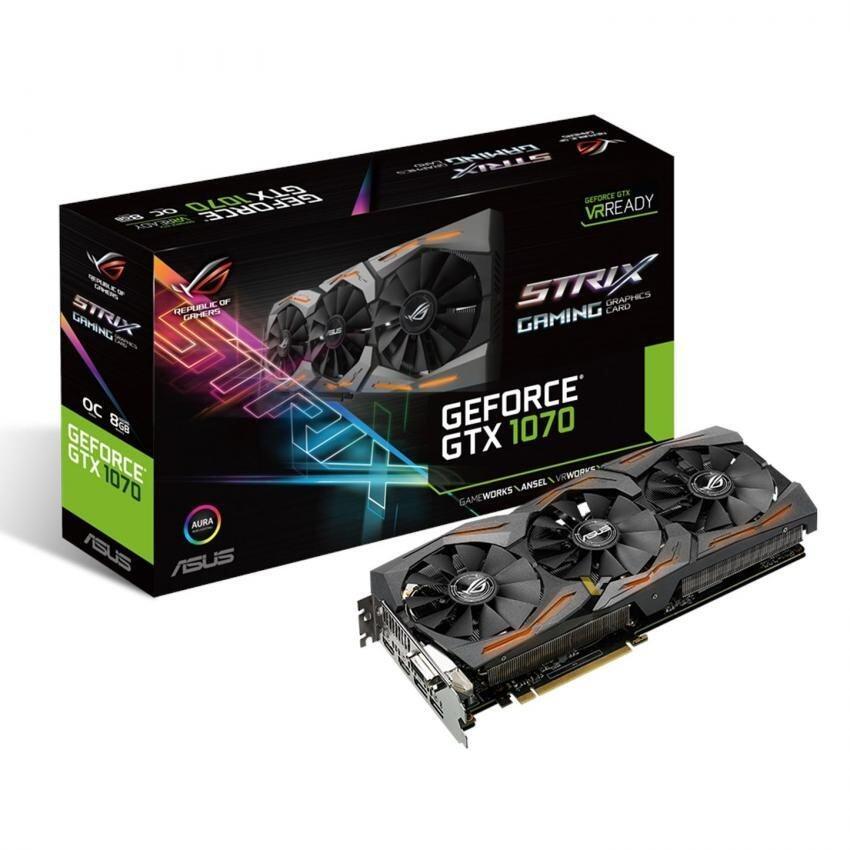 ลด50%ASUS VGA ASUS STRIX GTX1070 8GB DDR5X ซื้อเลย