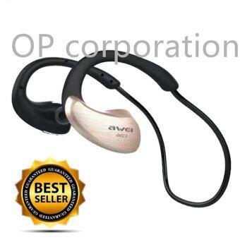 AWEI หูฟังบลูทูธ Bluetooth Sports Stereo Headset รุ่น A885BL (GOLD)