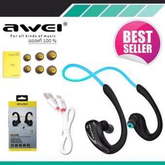 ประเทศไทย Awei หูฟังบลูทูธ สำหรับออกกำลังกาย Super BASS กันเหงื่อ กันน้ำ Bluetooth Sports Headphones รุ่น A880BL(สีดำ)