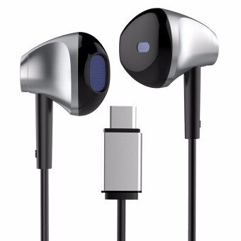 Baseus B51 Universal Digital Type-C Wired Control Headphone Earphone For Letv Huawei P9 Xiaomi 5 - intl