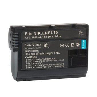 Battery Man EN-EL15 แบตเตอรี่นิคอน D600,D610,D750,D800,D800E,D810,D7000,D7100,D7200 Nikon1 V1 Battery