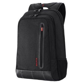 กระเป๋าใส่โน๊ตบุ๊ค Belkin Swift Backpack 16นิ้ว สีดำริ้วแดง