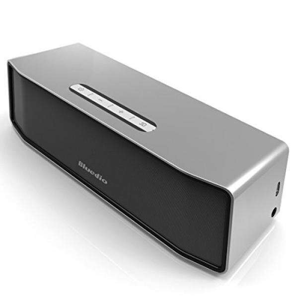 Bluedio BS-2 (Camel) Mini Bluetooth Speakers Portable Wireless Speakers 3D Surround Sound System (Noble Silver) - intl