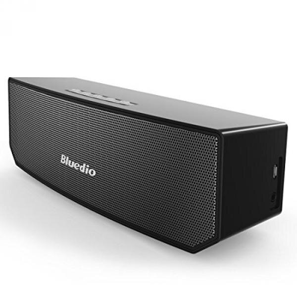 Bluedio BS-3 (Camel) Portable Bluetooth Wireless Stereo Speaker with Mic for Calls (Black) - intl