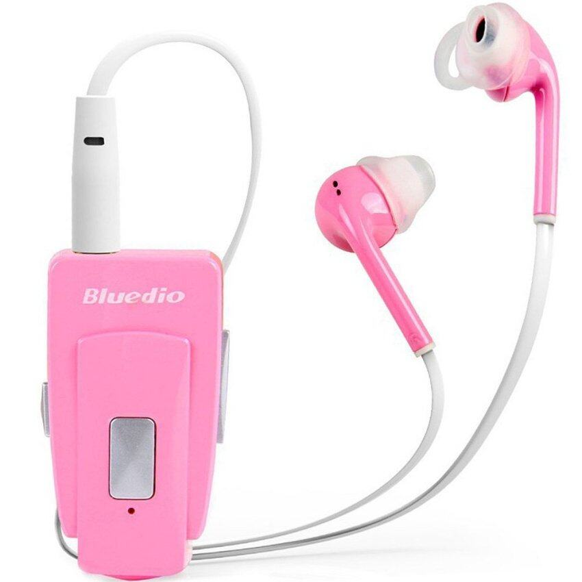 Bluedio EH Stereo HiFi Sound Bluetooth Hands Free In-Ear Earphone Clip Headset with Microphone NFC for Tablet PC Smartphones (Pink) - intl