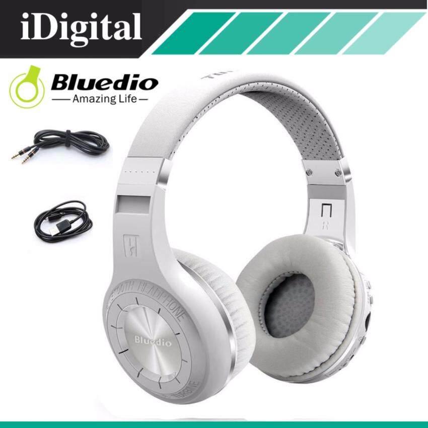 Bluedio หูฟังบลูธูท รุ่น H+ (Plus) Turbine Super BASS แบตเตอรี่ 40 ชม. Bluetooth V4.1 Headphone(สีขาว)