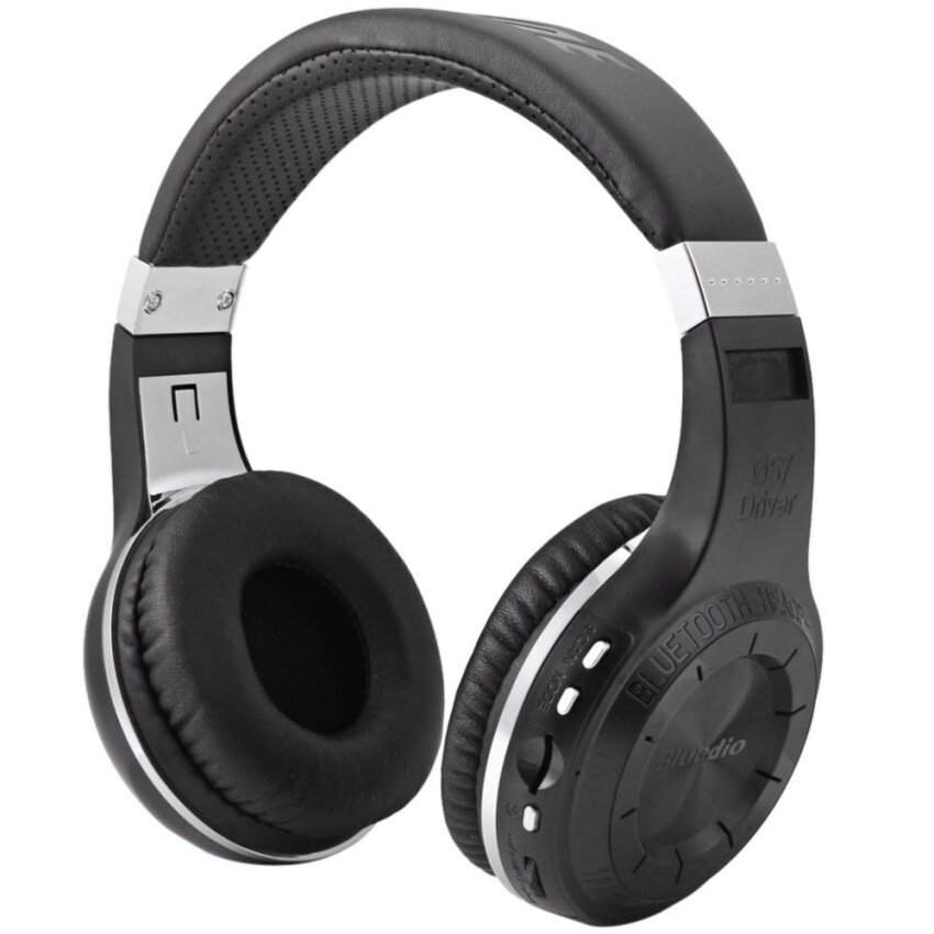 Bluedio H+ Turbine Bluetooth 4.1 Headphone Support TF Card Black - intl
