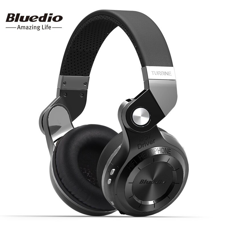 Bluedio T2 Bluetooth Stereo Headset Built-in Mic BT4.1 Wireless Noise Cancellation Headphones With Microphone (Black) - intl