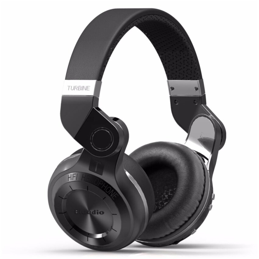 Bluedio T2 Bluetooth Wireless Stereo Swiveling Headphones with Mic, 57mm Drivers,Black - intl