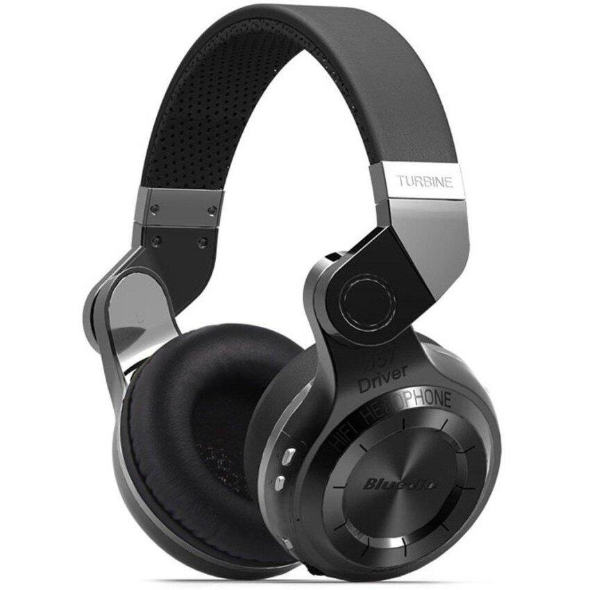 Bluedio T2+ Foldable Style Bluetooth V4.1 +EDR Wireless Stereo Headset Support TF Card with Mic black and white - intl