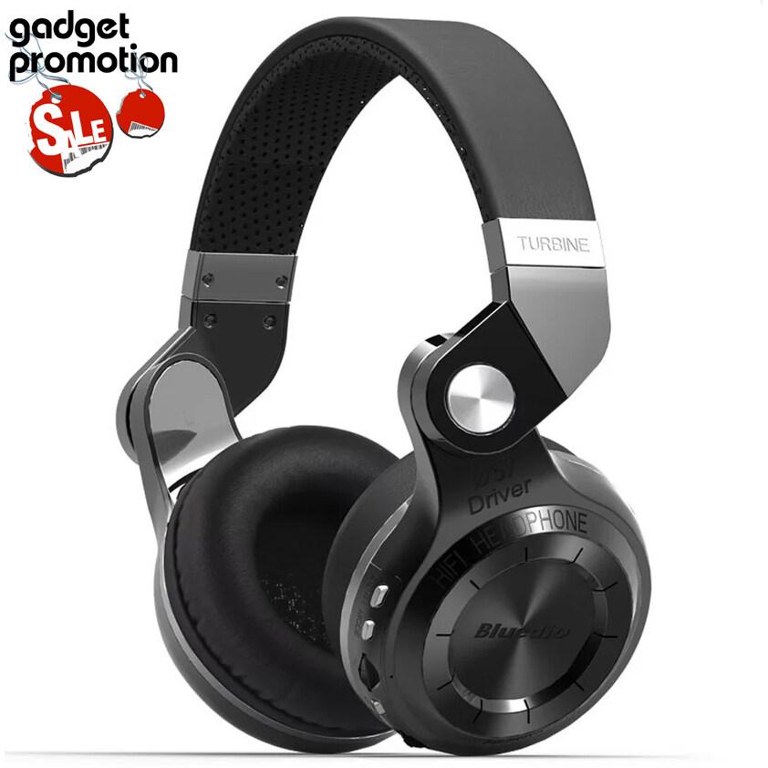 Bluedio หูฟังบลูทูธ รุ่น T2+ (Plus) Turbine (Black) ประกันศูนย์ไทย
