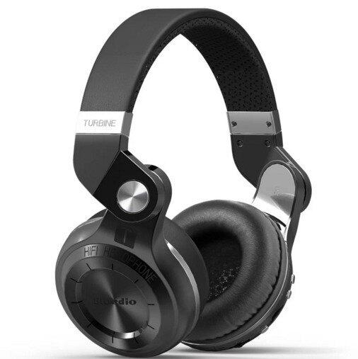 Bluedio T2 Plus Turbine Foldable Wireless Bluetooth 4.1 Stereo Headset (Black)