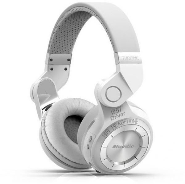 Bluedio T2 Turbine Foldable Wireless Bluetooth 4.1 Stereo Headset (White) - intl