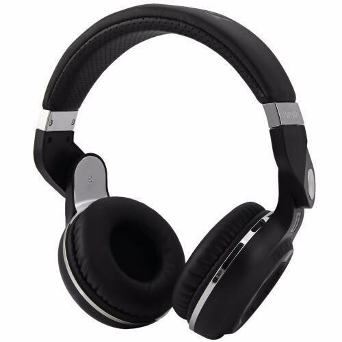 Bluedio T2+ Wireless Bluetooth 4.1 Stereo Foldable Headphone Support TF Card/FM (Black) - intl