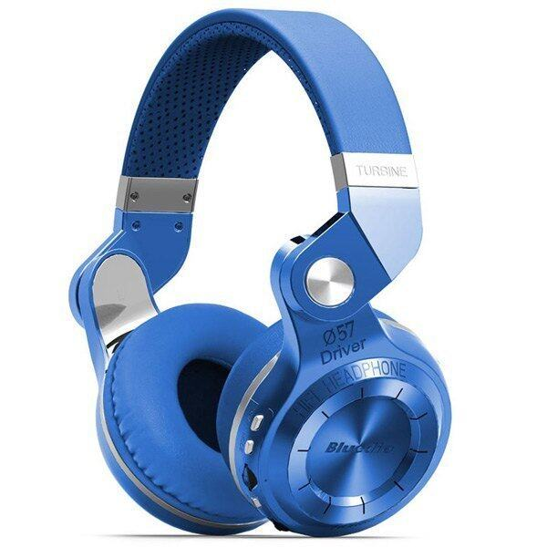 Bluedio T2+ Wireless Bluetooth 4.1 Stereo Headphone Headset Earphone Foldable / Stretchable Support TF Card / FM Function for Smartphones (BLUE) - intl