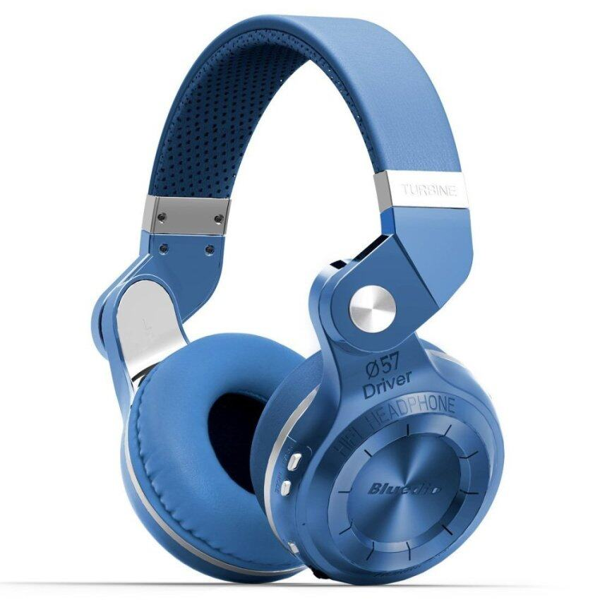 Bluedio T2s Turbo Wireless Bluetooth 4.1 Stereo Headphone Noise Canceling Headset With Mic High Bass Quality (Blue) - intl