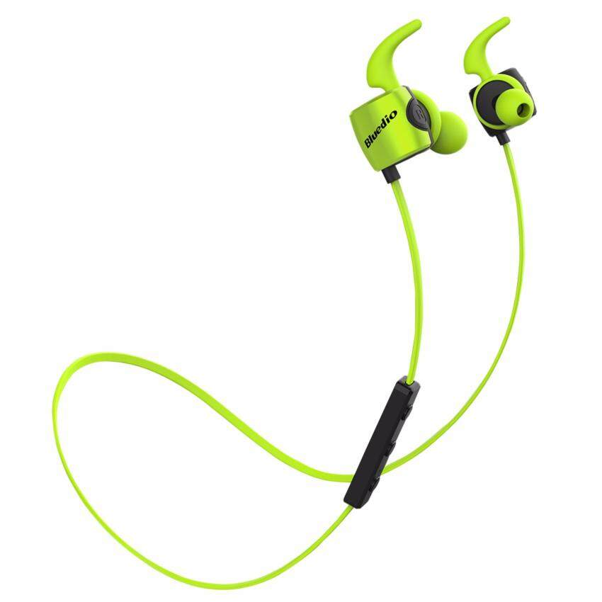 Bluedio TE Sport หูฟังบลูทูธ Earphone HiFi sound Bluetooth 4.1 with Mic ( สีเขียว )