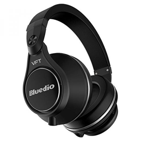 Bluedio U Plus (UFO) Pro Extra Bass Wireless Bluetooth PPS12 Drivers Over-Ear DJ Headphones (Black) - intl