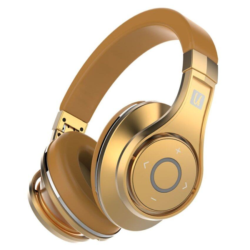 Bluedio UFO Bluetooth Headphones Wireless headset with Microphone (Gold)-intl
