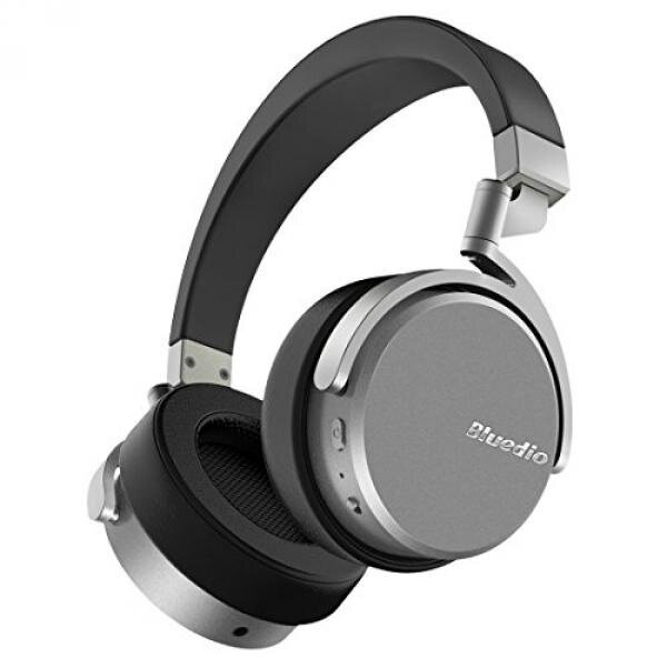 Bluedio Vinyl Stereo Rotary On-ear Wireless Bluetooth 4.1 Headphone with Mic (Black and Silver)