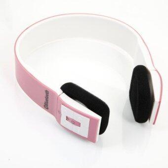 ประเทศไทย Bluetooth Headset 3.0 EDR 2CH Stereo Audio with MIC (Pink/White)