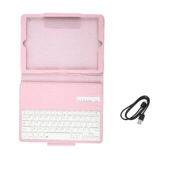 Bluetooth Keyboard Case Built-In Stand Wireless Cover for iPad Pro 9.7 Pink