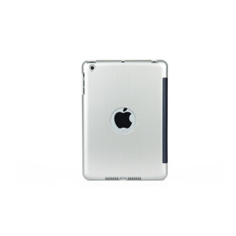 Bluetooth Keyboard Case Cover with stand for ipadmini ABS plastic material (Silver)
