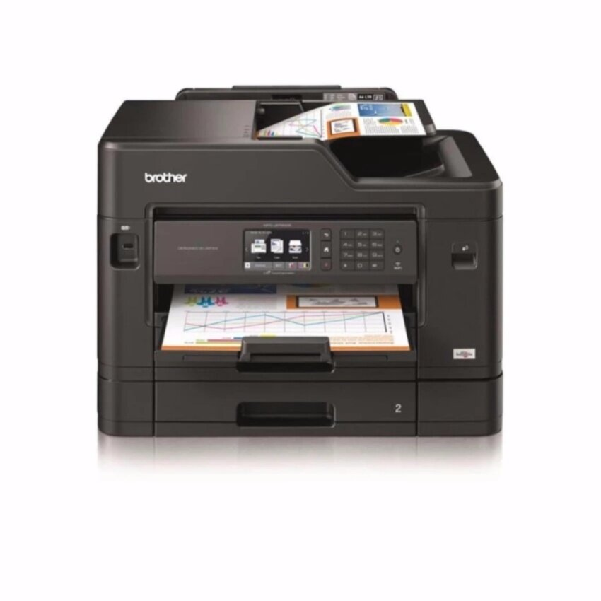 Brother MFC-J2730DW InkBenefit Wireless InkJet All-in-One MultiFunction Print / Scan / Copy / Fax / Duplex Print