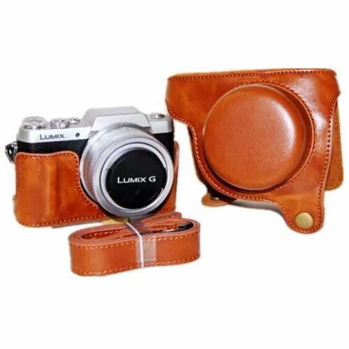 Brown PU Leather Camera Case Bag Cover for Panasonic Lumix GF8 (Intl) - intl ...