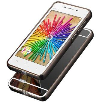 BYT Electroplated Metal Bumper Mirror Back Cover Case for Vivo Y31- intl .
