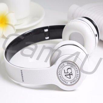 ราคา Cam4U Wireless Bluetooth 4.1 Headphone Stereo หูฟังบลูทูธ รุ่น P45 (สีขาว)