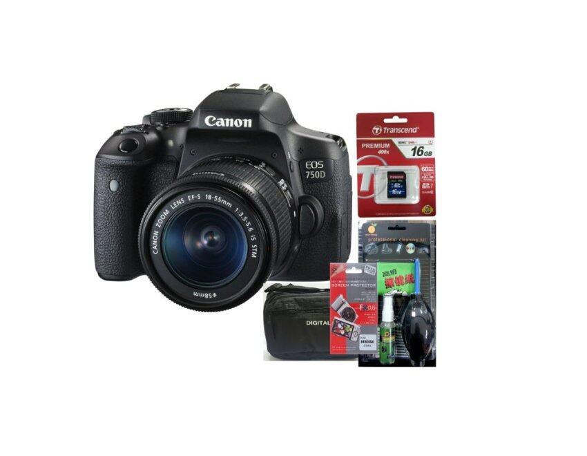 Canon EOS 750D Kit 18-55 STM (ประกันร้านEC-Mall) + SD TRANSCEND 16GB (400X) + ฟิล์มกันรอ ...