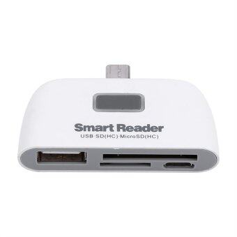 Card Reader Adapter Micro Usb interface Port White - intl