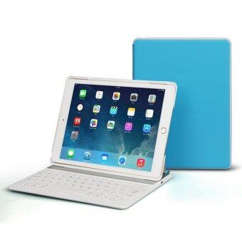Colorful Backlight Bluetooth Keyboard Ultrathin Protective Case With Stand For iPad Air 2 (Blue)(INTL)