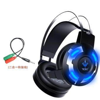 Computer headset headset Internet Gaming Headset computer with bass vibration microphone - intl
