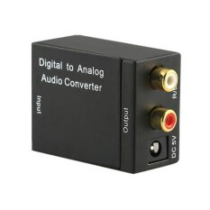 Digital Optical CoaxCoaxialToslink to Analog RCA L/R Audio ConverterAdapter - intl image