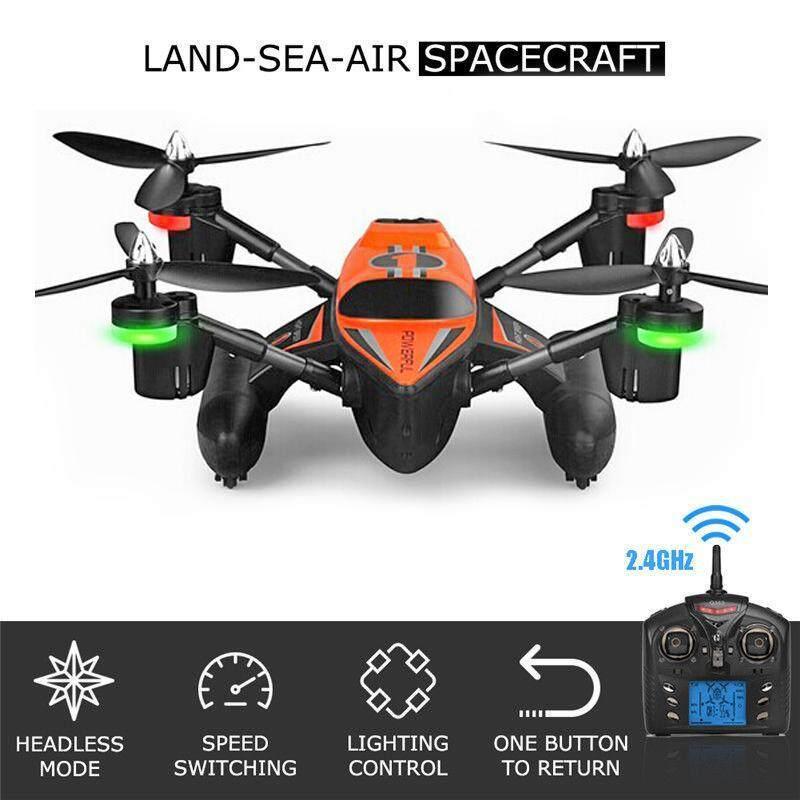 DRONE NEW Super Quadcopter โดรนเรือบิน 3 in 1 (บินบนฟ้า วิ่งบนน้ำ และแรงบนพื้นได้) สุดแรง + โหมด Headless