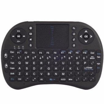 DT Mini Wireless Keyboard 2.4 Ghz และ Touchpad สำหรับ Android tv box , mini pc, windows (สีดำ)