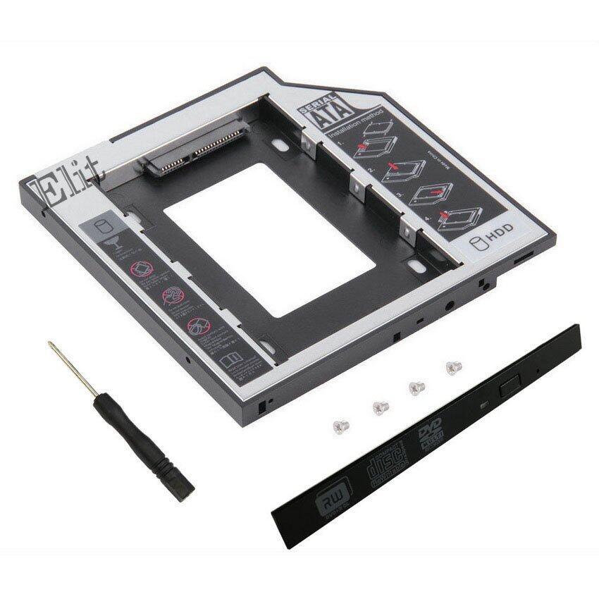 Elit ถาดแปลง ใส่ HDD SSD ในช่อง DVD Notebook 12.7 mm Universal SATA 2nd HDD SSD Hard Dri ...