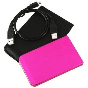 "External Enclosure Case for Hard Drive HDD 2.5"" Usb 2.0 Ultra Slim Sate Hdd Pink Portable Case - Intl"