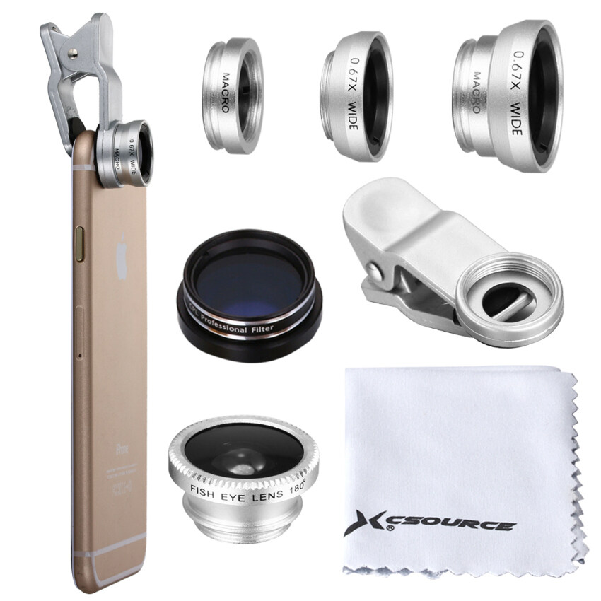 Fisheye Wide Macro CPL Selfie Zoom Glass Lens for iPhone 5s 6 6S 6 Plus