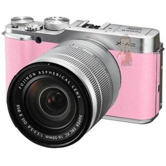 FUJI กล้องMIRRORLESS X-A2 หน้าจอ 3 นิ้ว สีชมพู รุ่น X-A2 + 16-50mm Pink