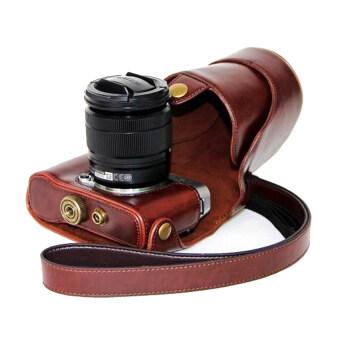 Fuji กระเป๋ากล้อง X-A1 X-2 X-A3 X-A10 (สีน้ำตาลเข้ม)