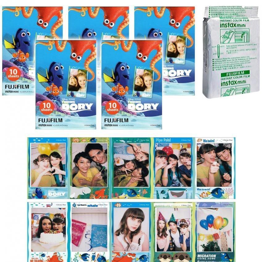 Fujifilm Instax Mini Finding Dory Instant 50 Film for Fuji 7s 8 25 50s 70 90/ Polaroid 300 Instant Camera/ Share SP-1